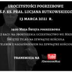Ś.P. Ks. Prałat Lucjan Rutkowski – RETRANSMISJA Mszy Św. pogrzebowej.